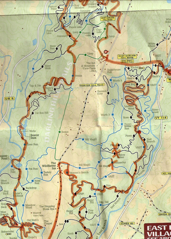 Kingdom Trails Map