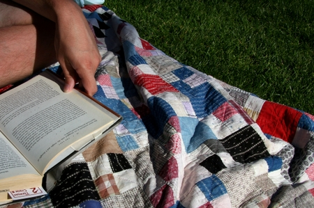 Blanket_and_book